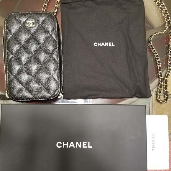 29771e8a8d6c CHANEL Handbags - Brand new Chanel quilted phone holder on chain